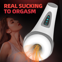Air Sucking Masturbator male Real Blowjob Masturbators with heating function Burst to Orgasm Masturbation Sex toys for men