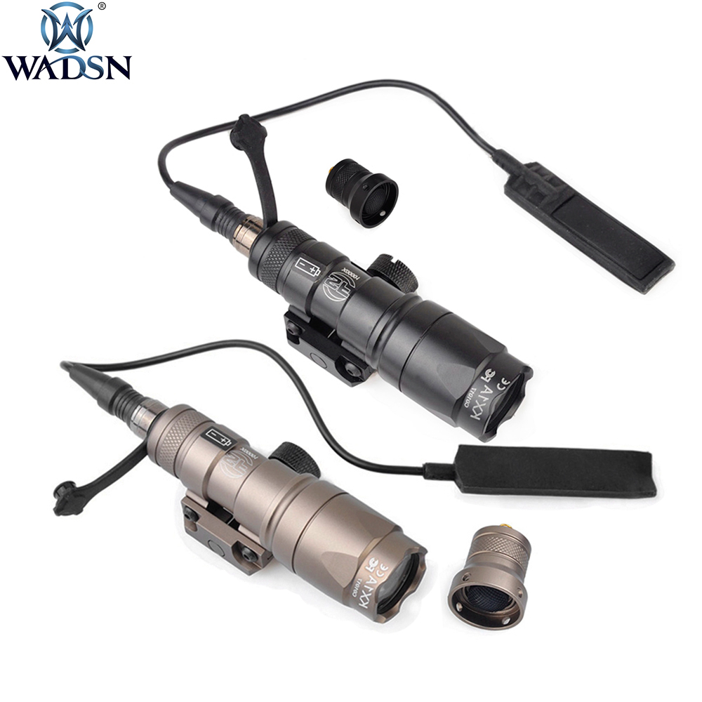 WADSN Airsoft Surefir M300 M300A M300B Mini Scout Light LED 280 Lumens Tactical Weapon Flashlight Outdoor Hunting Rifle Light
