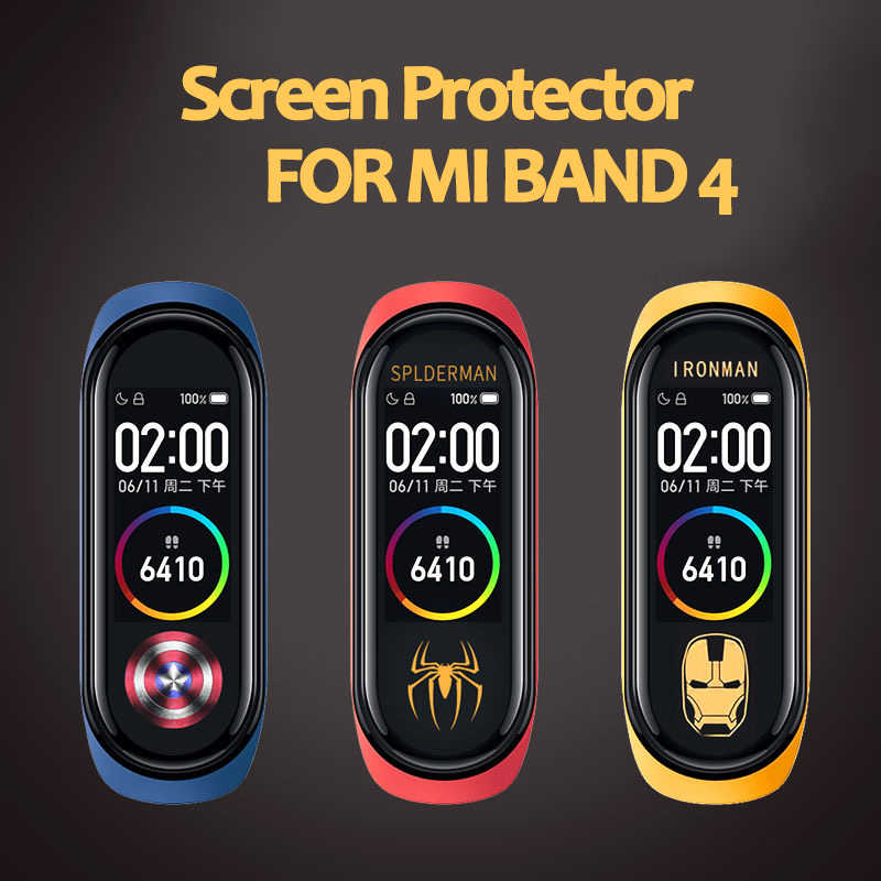 Screen Film cover For Xiaomi Mi Band 4 Screen Protector Film For Xiaomi Mi Band 4 Smart Bracelet Accessories Full