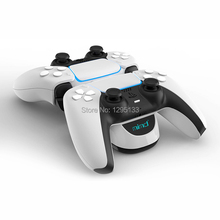 2020 New Handle Controller USB Charger Dual Charging Dock Stand Station Cradle Holder for PS5 Gaming Console Gamepad Accessories