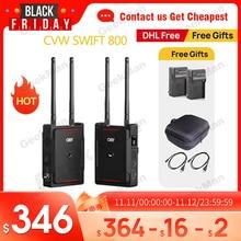 Cvw swift 800 800ft sem fio sistema de transmissão vídeo hdmi imagem hd transmissor sem fio receptor suporte monitor smartphone