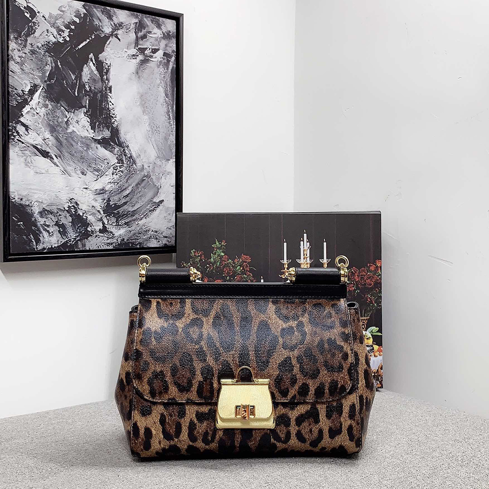 Messenger Bags Cowhide Leather Handbags Fashion Women Cowhide Head Crossbody Bag Ladies Party Handbag Leopard Shoulder Tote