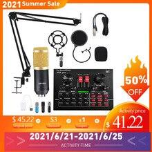 V8X PRO Audio Mixer BM800 Kondensator Mikrofon Live Soundkarte Bluetooth USB Spiel DSP Aufnahme Professionelle Streaming V9X Telefon
