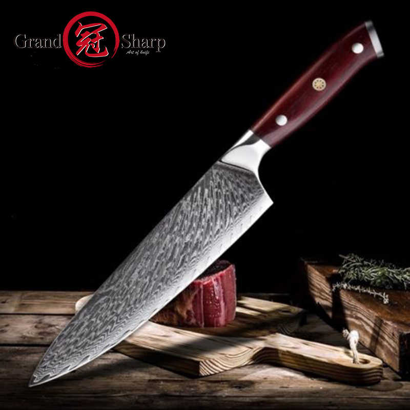 Damascus chef's Knife vg10 Japanese Damask Steel Professional Kitchen Knives  quality  cooking meat fillet sharp