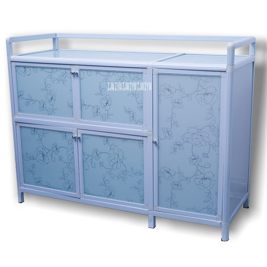 65 Multifunctional Kitchen Furniture Storage Base Cabinet Simple Assembly Buffet Cupboard Side Table Aluminum Alloy Sideboard