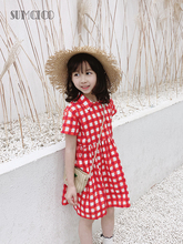 Sumcico 2020 Latest Summer Holiday Little Girls Dress Gingham Plaid Vintage Kids Dress For Vacation Age 2-15Y anni coco women s 1950s vintage plaid dresses gingham rockabilly dress