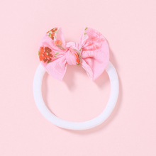 38 Colors Fashion Baby Bows Headbands Floral Print Elastic Baby Hair Bands For Girls Soft Children Turban Kids Hair Accessories