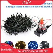 10M 20M 30M 100M Wasserdichte LED Fairy String Lichter Girlande Weihnachten Party Hochzeit Weihnachten Urlaub Lichter outdoor Home Dekoration