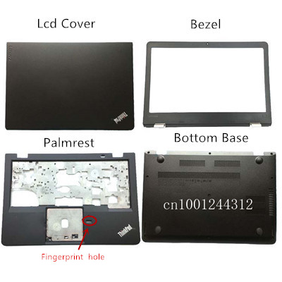 Orig New For Lenovo ThinkPad 13 New S2 LCD Rear Top Lid Back Cover/ LCD  Bezel /Palmrest/Bottom Base 01AV615 37PS8LCLV00  Black