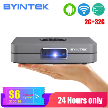 BYINTEK Mini Projector U20 Pro, Android Smart Wifi Beamer, Portable LED DLP Proyector for IPhone Smartphone 300inch 3D Cinema