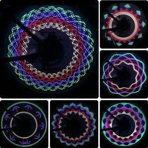 30 узоров Велосипедное освещение Велосипедное колесо свет двойной дисплей Вспышка 32 RGB LED освещение велосипедный спица Лампа Ночная езда Велосипедное освещение