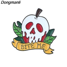 P5027 Dongmanli Poison Apple Hard Enamel Pins Brooch Women Lapel Backpack Bags Badge Funny Jewelry Gifts banana brooch creative tricky funny cute badge backpack fruits pins jewelry pin women men student cartoon enamel corsage gifts