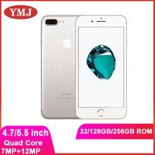 Разблокированный Apple iPhone 7 7 плюс, функция отпечатков пальцев, 4G, LTE, глобальная 32/128 ГБ ROM IOS мобильный телефон 12.0MP GPS Quad-Core используется для моби...