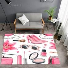 High Heels Cosmetics Skirt Square Anti-Skid Area Floor Mat 3D Rug Non-slip Mat Dining Room Living Room Soft Bedroom Carpet