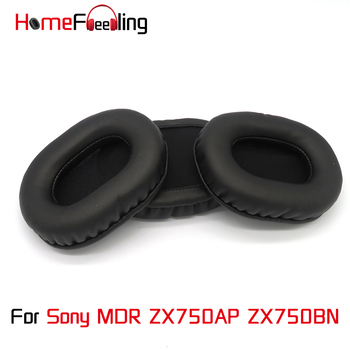 Homefeeling Ear Pads For Sony MDR ZX750BN ZX750AP Earpads Round Universal Leahter Repalcement Parts Ear Cushions yhcouldin ear pads for sony mdr cd570 mdr cd570 headphone replacement earpads ear cushions cups