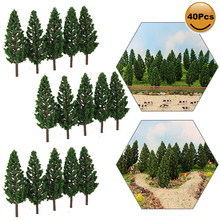 Pine-Trees Ho Scale 7cm-Model Mini Pc 40 Green S7828 1:100-Tt Railway-Layout