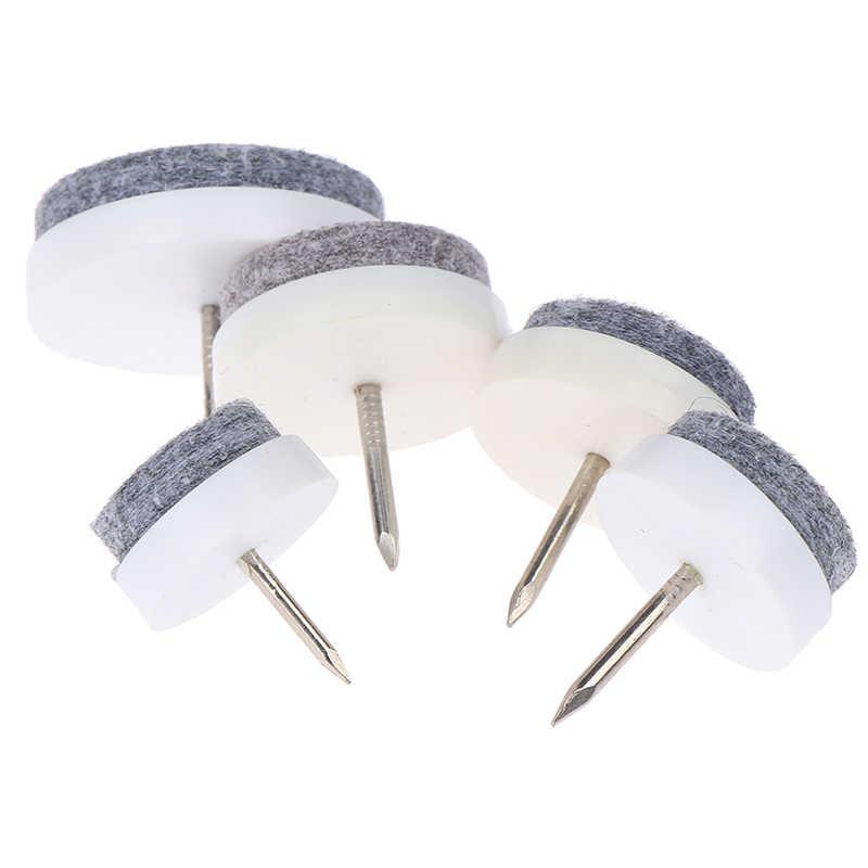 18-30mm stół i krzesła nogi nogi Glides Skid płytka podkładka z filcu podłoga paznokci Protector uszczelki 10 sztuk filc paznokci Protector średnica