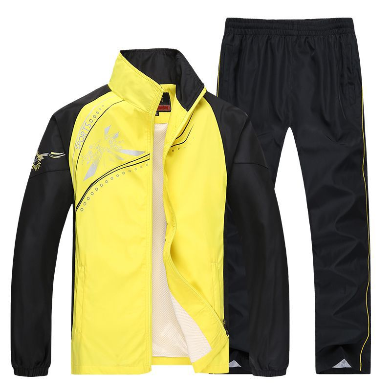 Spring And Autumn Men WOMEN'S Sportswear Suit Teenager Middle-aged Leisure Suit Large Size Outdoor Clothing