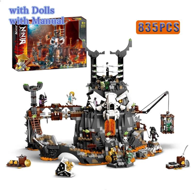 Новинка 2020 серия Череп волшебник подземелье Коул сезон 12-14 строительные блоки с фигурами классическая модель 71722 комплекты кирпичей игрушк...