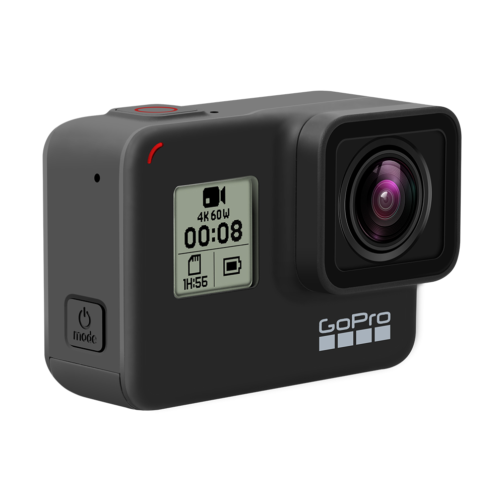 GoPro HERO 7 Black Waterproof Action Camera with Touch Screen Sports Cam Go Pro HERO 7 12MP Photos Live Streaming Stabilization 4