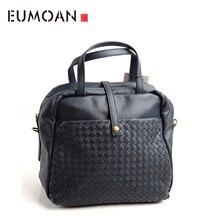 EUMOAN Pure leather Europe, Japan and South Korea fashion casual retro woven handbags handbag shoulder diagonal cross
