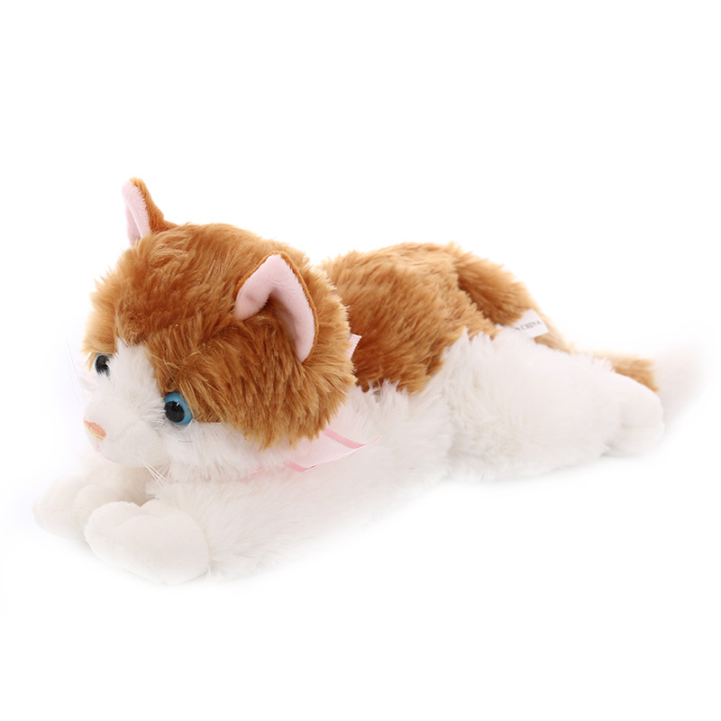 Millffy 1pcs New 15-40cm Simulated Cat Doll Plush Toy Japanese Kitty Cat Plush Pillow Lying Sleeping Pillow Gifts For Girlfriend