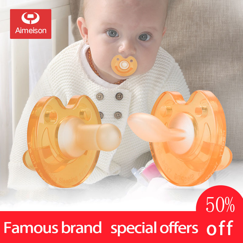 Baby Pacifier Soft Imitation Breast Milk Newborn Silicone Comfort Artifact Pacifier Clip Kids Nipple Orthodontic Soother AXA068
