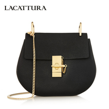 CATTURA women messenger bags 2015 genuine leather handbag ladies Chain shoulder bag clutch fashion brand candy color bag цена 2017