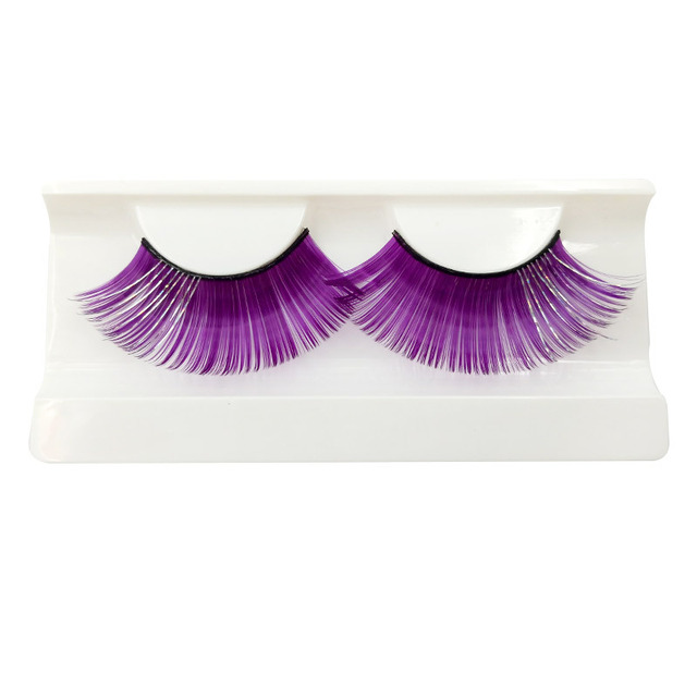 1 Pair Colorful Thick Plus Long False Eyelash Festival Party Costume Eye Lashes Women Pretty Charming False Eyelash Makeup Tools 3