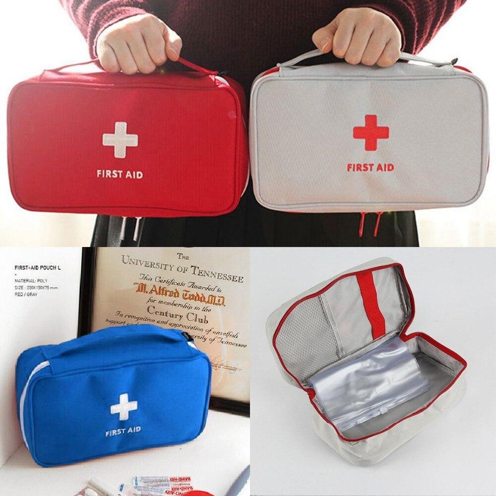 Пустой большой аптечка первой помощи, портативная медицинская коробка для чрезвычайных ситуаций, путешествий, кемпинга, выживания, медицин...