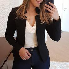 Fashion Women Blazer Casual Suit Coat Business Blazer Long Sleeve Jacket Outwear Ladies Black Pink Slim Blazer Coat Blazer Mujer adogirl women suit black casual blazer