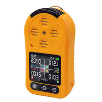 EX/O2/H2S/CO 4in1 Gas Detector With LCD Multi Gas Monitor Toxic and Harmful Hydrogen Sulfide COz Portable Single Gas Detector