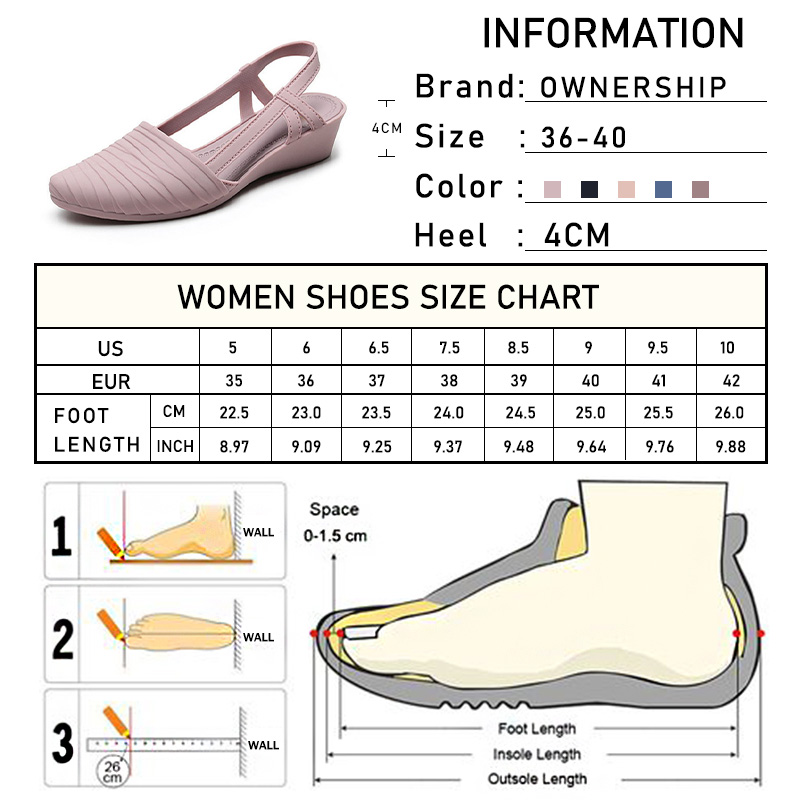 Woman Wedges Sandals 2021 Women Slip-on Jelly Shoes Ladies Casual Pumps Female Summer Beach Slippers Women's Casual Footwear 6