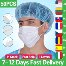 Face Mouth Mask Soft Breathable Non-Woven Mask Disposable Anti-Dust Anti Influenza Filtration Cotton Earloops Masks kimberly clark childs face mask w stretchable earloops 75 box latex free