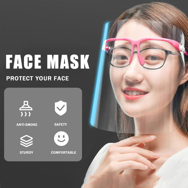 Creative protective face shield Kitchen Oil-Splash Proof Mask Transparent Virus protection mask kitchen outdoor accessories