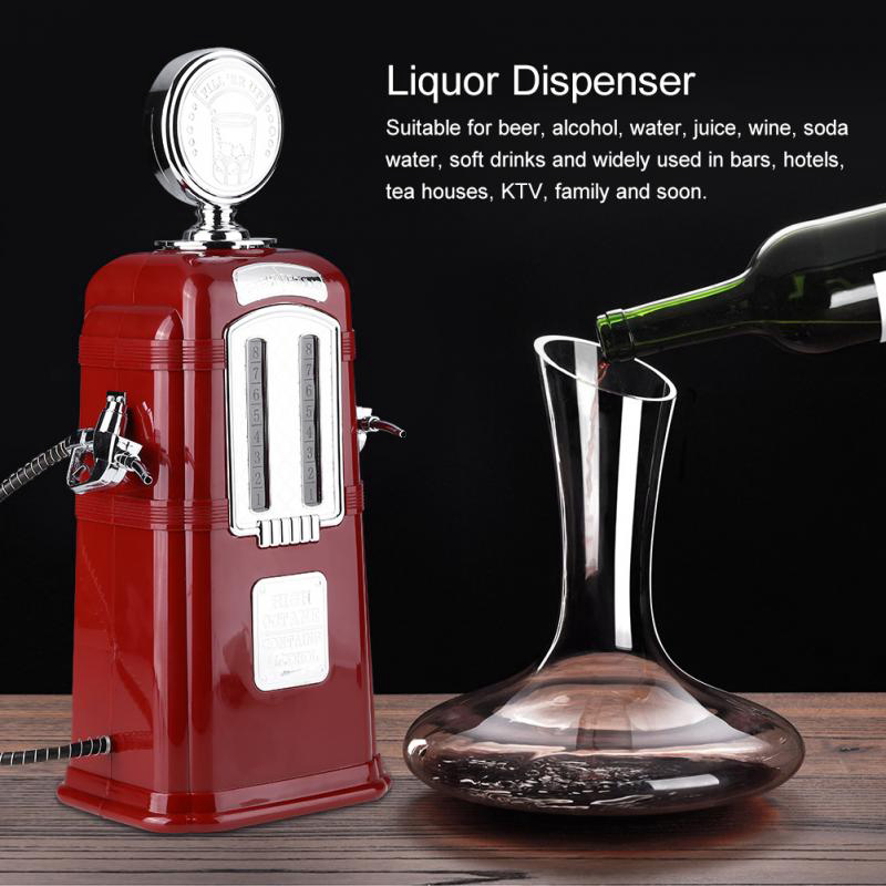 Gas Station Beer Dispenser Double Tube Wine Pump Alcohol Liquid Beverage Machine|  - title=