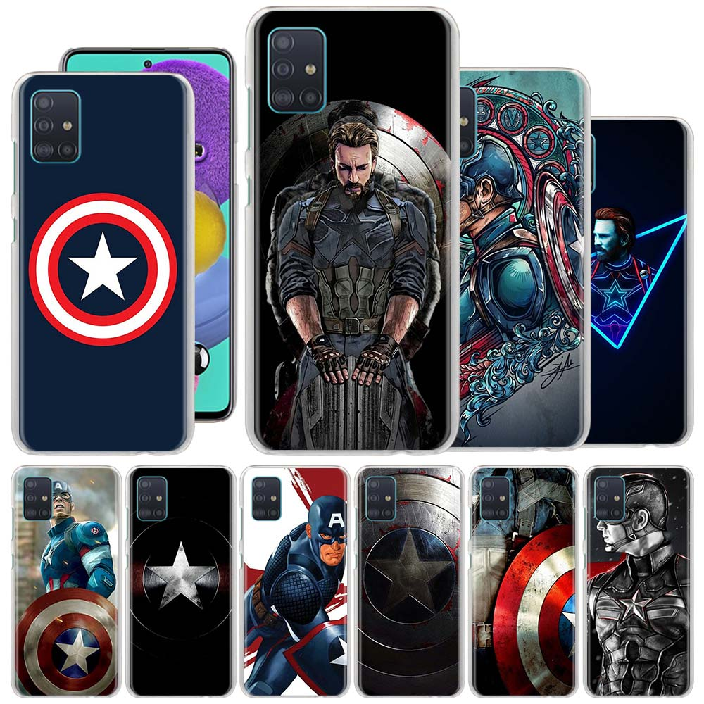 Phone Case for Samsung Galaxy A50 A70 A51 A71 A31 A41 A11 A10 A20 A30 A40 A91 Hard Cover Captain America image