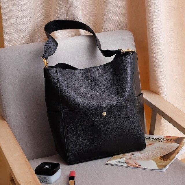 Gionar rfid genuíno bolsa de couro real designer bolsa para as mulheres balde tote macio camada superior crossbody ombro saco trabalho 1