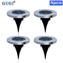 4 Pcs 8/12/16 Led Solar Light Outdoor Waterdichte Solar Gazon Licht Decoratieve Solar Tuin Licht Voor yard Dek Gazon Patio Plaza(China)