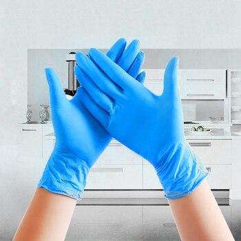 20/100 шт черные/синие одноразовые перчатки супер тонкие универсальные латексные нитриловые перчатки для мытья посуды/кухни/работы S/M/L/XL 1