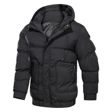 2020 Winter Men's New Hooded Cotton Casual Jacket High Quality Men Warm Outwear Black Men's Down Coat Jacket Size 4XL
