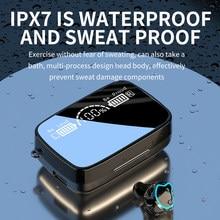Draadloze Bluetooth Oortelefoon M9 Led Met Sport Waterdichte Anc Headset Opladen Case Microfoons Voor Smart Xiaomi Telefoons