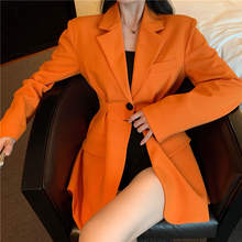 2020 Spring New Women Sweet Notched Full Sleeve Ladies Office Coat Feminino Korea Style Loose Slim Black Blazer Mujer Tops