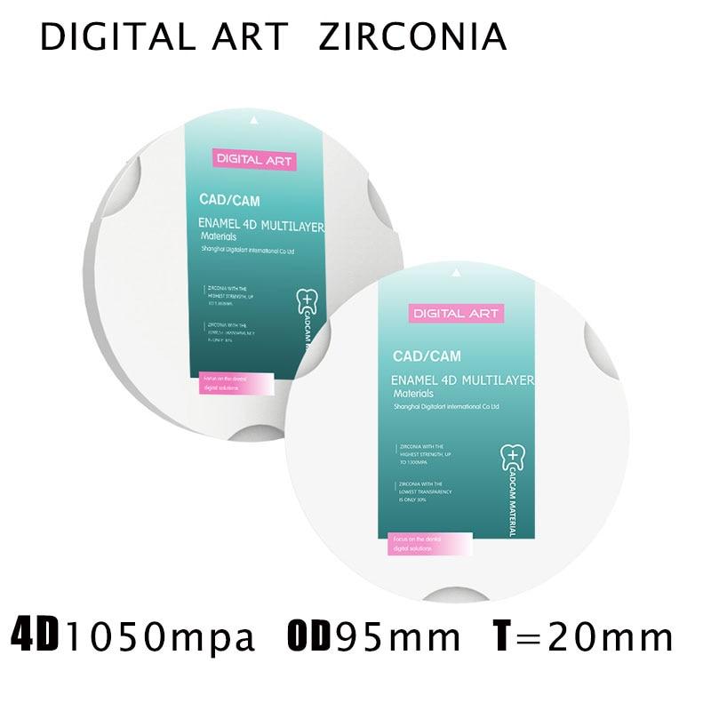 digitalart 4d zirconia restauracao dental multicamadas blocos de zirconia cad came sirona 4dml95mm20mma1 d4
