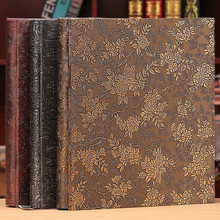 6 Inch 800 Plastic Pockets Photo Album Family Insert Large Capacity Leather Cover Gallery Family Memory Record Scrapbook Album
