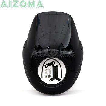 Black Motorcycles ABS Headlight Fairing Kit For Harley Street 500 750 Street Rod XG750A XG750 XG500 Headlamp Cover Mask