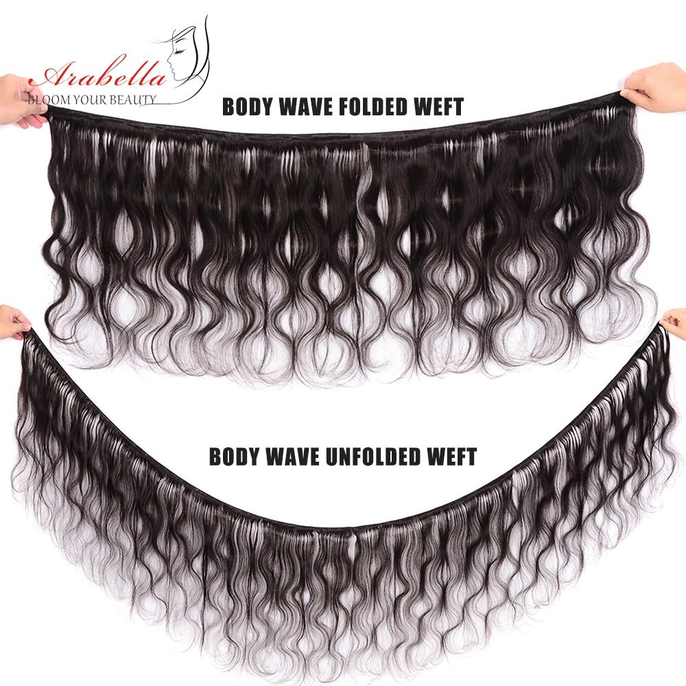 Body Wave 3 Bundles With Closure Natural Color   Arabella  Hair 3 Bundles With 4*4 Lace Closure 3