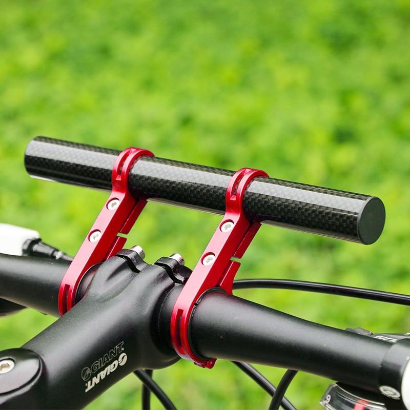 Black E-Greetshopping Bicycle Handlebar Extender Bicycle Accessories Aluminum Alloy mounting Frame Carbon Fiber Bracket for Speedometer Flashlight lamp Phone Bracket