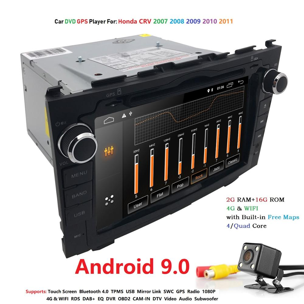 8 ''Android 9.0 HD 2DIN Auto DVD Player GPS Navigation <font><b>Radio</b></font> Audio Für Honda <font><b>CRV</b></font> Autoradio GPS RDS WIFI SWC 4G BT Mirrorlink CAM image