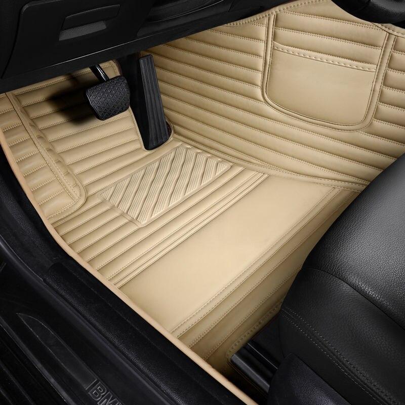 Black Thicken Leather car floor mat For alfa romeo 147 giulietta stelvio mito 156 rugs carpets accessories